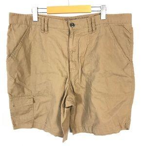 Old navy linen cotton blend cargo shorts